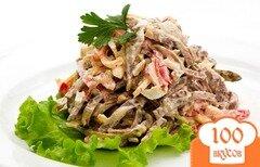 Фото рецепта: «Салат с говяжьим языком и болгарским перцем»
