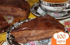 Фото рецепта: «Шоколадно-малиновый торт на сгущенке»