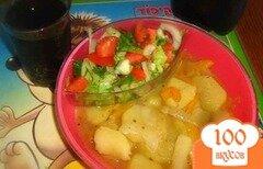 Фото рецепта: «Тушеная картошка с болгарским перцем»