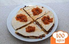 Фото рецепта: «Кесадилья с грибами (или шаверма по мексикански)»