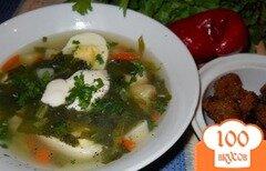 Фото рецепта: «Картофельный суп со шпинатом»
