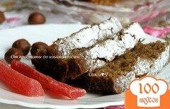 Фото рецепта: «Шоколадный манник с папайей и фундуком»