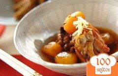 Фото рецепта: «Тушеная курица с каштанами»