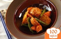 Фото рецепта: «Таро во фритюре с тофу под кунжутным соусом»