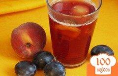 Фото рецепта: «Сливово-персиковый компот»