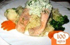 Фото рецепта: «Лосось под соусом из брокколи.»
