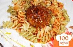 Фото рецепта: «Говяжьи котлетки тушенные в сливочно - томатном соусе»