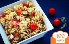 Фото рецепта: «Весенний греческий салат с пастой»