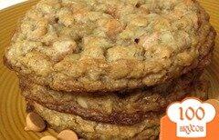 Фото рецепта: «Овсяное печенье с ирисками»