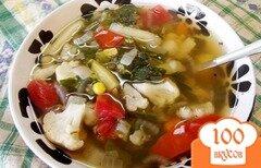 Фото рецепта: «Овощной суп с бобовыми»