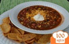 Фото рецепта: «Суп тако с фасолью и кукурузой»