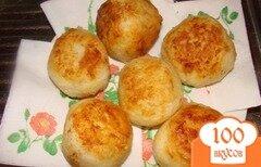 Фото рецепта: «Рисовые шарики с сыром и зеленью»