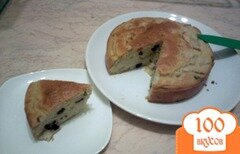 Фото рецепта: «Легкий грушевый пирог с изюмом»