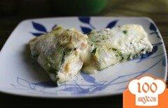 Фото рецепта: «Яичный омлет с листьями базилика»