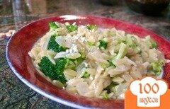 Фото рецепта: «Макароны орзо с брокколи»