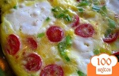 Фото рецепта: «Фриттата с томатами и Моцареллой»