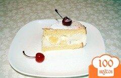 Фото рецепта: «Нежный творожный торт с ананасами»