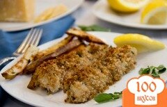 Фото рецепта: «Хрустящие рыбные палочки с пармезаном»