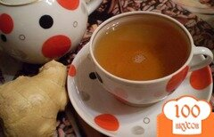 Фото рецепта: «Черно-зеленый чай и корнем имбиря»