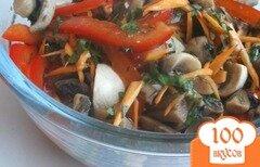 Фото рецепта: «Маринованные шампиньоны с овощами и тмином»