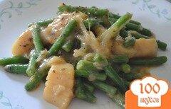 Фото рецепта: «Морские гребешки с зеленой фасолью»