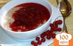 Фото рецепта: «Овсяная каша с ягодным соусом»