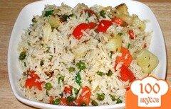 Фото рецепта: «Рис с овощами в мультиварке»