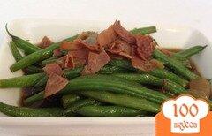 Фото рецепта: «Зеленая фасоль с хрустящим прошутто»