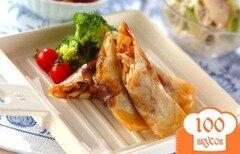 Фото рецепта: «Весенние роллы с грибами шиитаке»