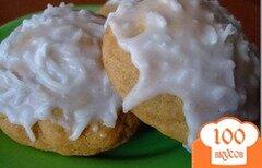 Фото рецепта: «Печенье с кокосовой глазурью»
