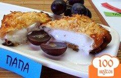 Фото рецепта: «Ледяные блины. С мороженным, жаренные во фритюре!»
