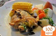 Фото рецепта: «Курица в вине с овощами»