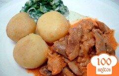 Фото рецепта: «Бефстроганов из куриного мяса»