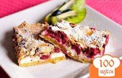 Фото рецепта: «Пирог с вишней и творогом»