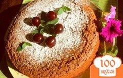 Фото рецепта: «Шоколадный манник с вишней»