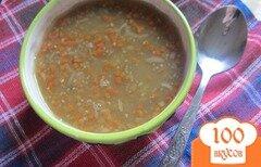 Фото рецепта: «Суп с чечевицей и горохом»