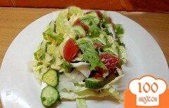 Фото рецепта: «Овощной салат с кунжутом»