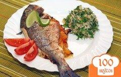 Фото рецепта: «Дорада, фаршированная овощами»