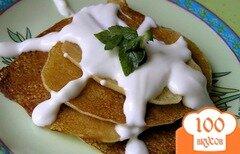 Фото рецепта: «Кукурузные оладьи к завтраку»