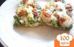 Фото рецепта: «Пицца с креветками и спаржей»