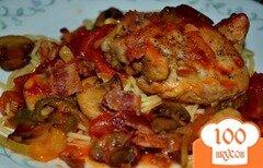 Фото рецепта: «Куриное каччиторе на сковороде»
