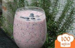 Фото рецепта: «Чернично-кокосовый смузи»