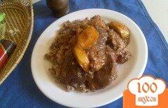 Фото рецепта: «Нежная куриная печень с яблоками»