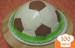 """Фото рецепта: «Торт """"Футбольный мяч""""»"""