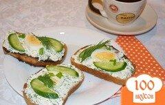 Фото рецепта: «Гренки с творожной массой и яцом.»