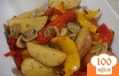 Фото рецепта: «Картошка с грибами в мультиварке»