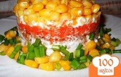 Фото рецепта: «Слоеный салат с тунцом и кукурузой»