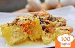 Фото рецепта: «Картошка с грибами в сливках»
