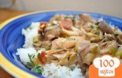 Фото рецепта: «Курица с грибами в винном соусе»