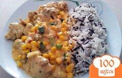 Фото рецепта: «Мясо с кукурузой»